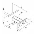 RVS trapleuning vierkant inclusief leuningdragers type T MAT ZWART